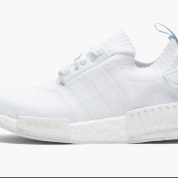 the latest 66319 1a4cb ADIDAS NMD R1 TRIPLE WHITE BLU PK CQ2040 size 7 NWT